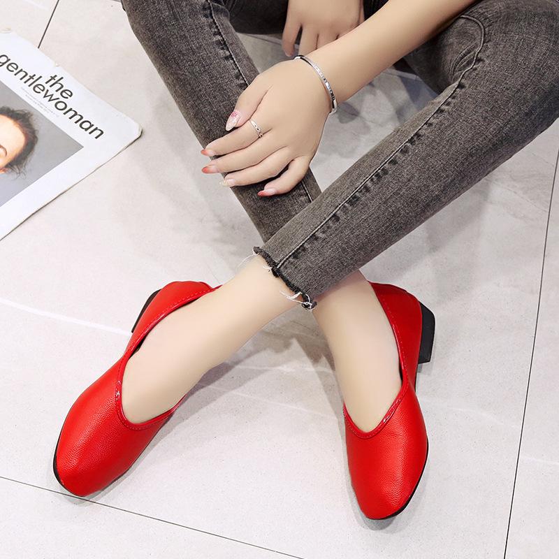 Thời Trang Giày Búp Bê Mũi Vuông Phong Cách Retro Hàn Quốc Cho Nữ