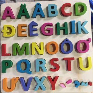 Combo 2 Bảng ghép chữ, số Nổi cho bé