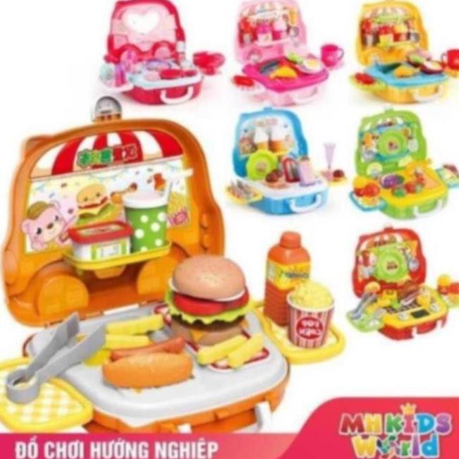[Mã TOYOCT hoàn 20K xu đơn 50K] Bộ đồ chơi nấu ăn đồ chơi bán hàng bánh kẹo humberger cho bé trải nghiệm sáng tạo