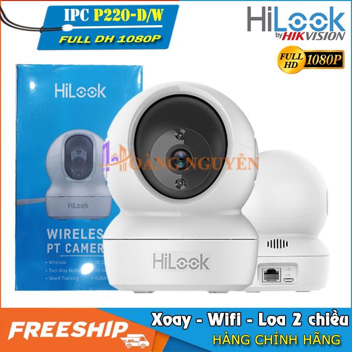 Camera Wifi HiLook Hikvision P220 Full HD 1080P 2MP - Camera Không Dây Quay Quét 360, Siêu Đẹp, Siêu Bền