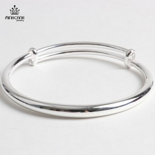 Lắc Bạc Tròn Trơn Điều Chỉnh Được Size Cho Bé 0 đến 1 Tuổi - Minh Canh Jewelry