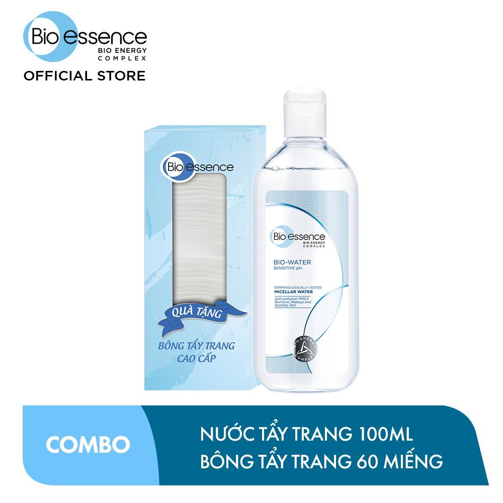 [Tặng Bông tẩy trang mềm mịn] Nước tẩy trang ẩm mượt mịn màng Bio-Water Bio-Essence Water Micellar Water 100ml