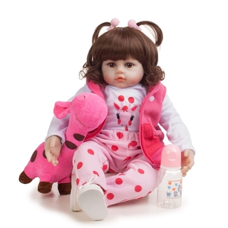 【lin】Simulation Baby Reborn Doll Toy Silicone Baby Doll