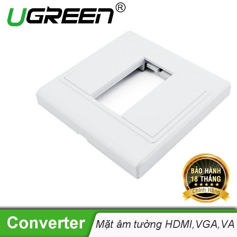 Mặt nạ âm tường VGA, AV, HDMI nhựa PVC cao cấp UGREEN 20316 - Hãng phân phối chính thức