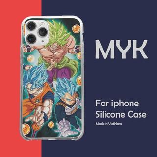 Ốp Lưng The Saiyans Bảy viên ngọc rồng cho Iphone 5 6 7 8 Plus 11 12 Pro Max X Xr GOKPOD00717