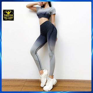Bộ quần áo tập gym yoga nữ AMIN AM003 có mút ngực vải thoáng mát co dãn 4 chiều nâng mông đồ tập gym yoga nữ tôn dáng