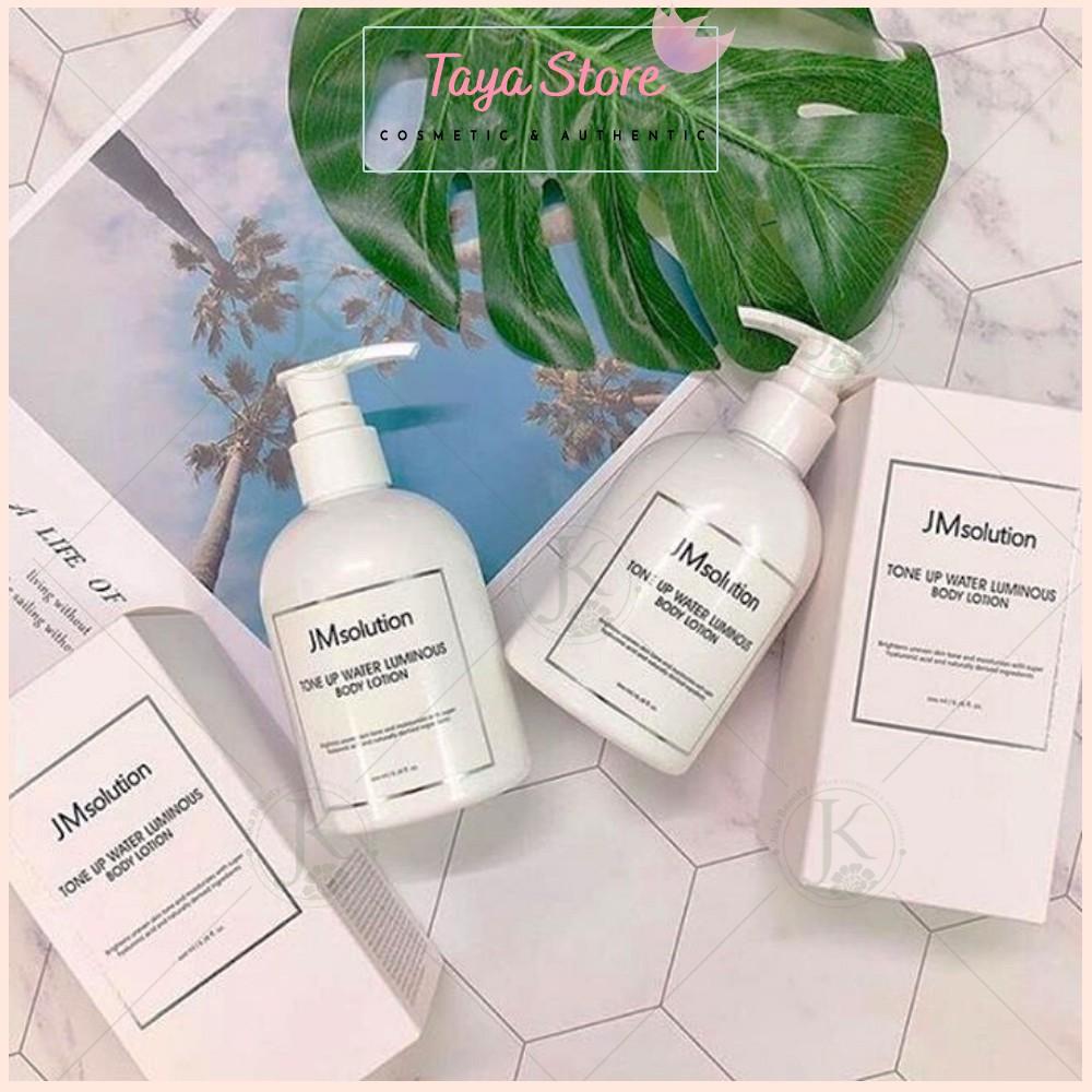 Sữa dưỡng trắng body JM Solution Tone Up Water Luminous 200ml Hàn Quốc nâng tone trắng và dưỡng ẩm sâu cho da
