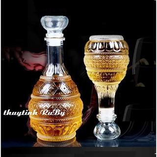 Bình ngâm rượu thủy tinh 500ml - 1000ml, Vỏ chai rượu đẹp