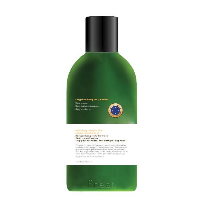 Hình ảnh [FMSCCHOLIDAY - GIẢM 30k - ĐƠN TỪ 150k] Dầu gội Fresh Organic Maccadamia Oil 250g chính hãng-3