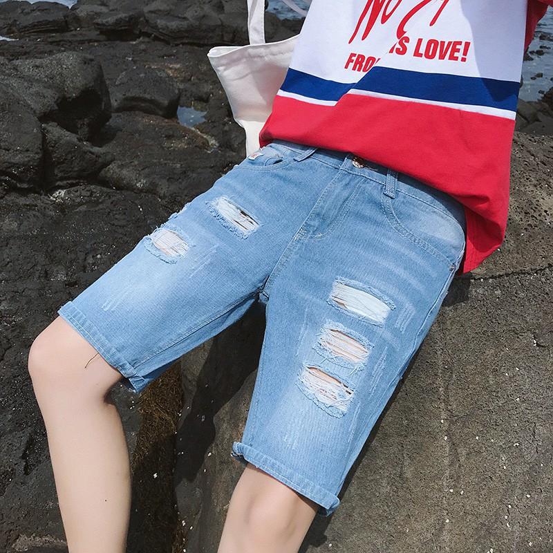 nam giới thường năm quần quần Hàn Quốc phiên bản của thủy triều lỏng quần thẳng