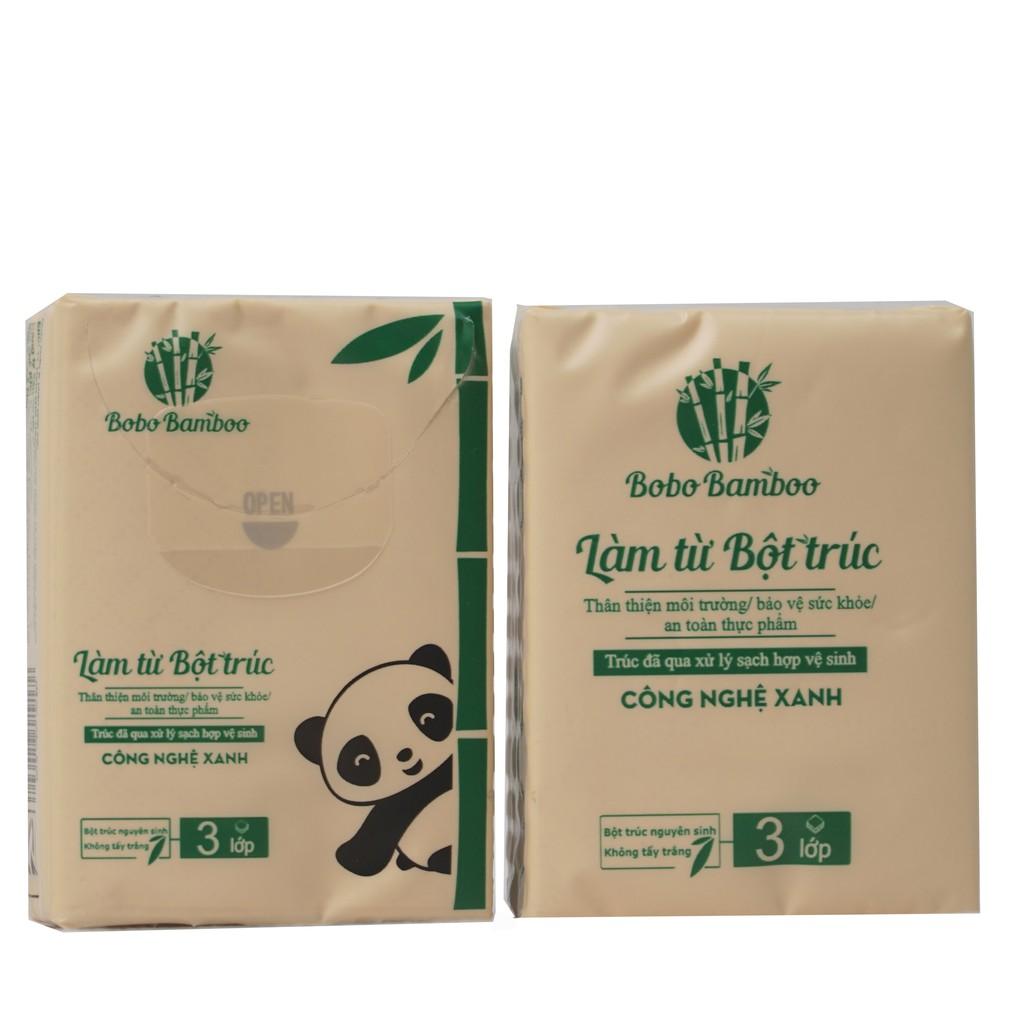 14 gói khăn giấy bỏ túi làm từ bột trúc siêu dai Bobo B