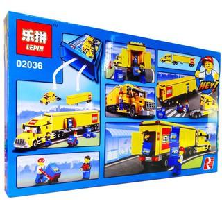 LEGO – Lắp Ráp City Xe Container Vàng. No-02036. Gồm 298 chi tiết. Bộ Lego xếp hình Ninjago Đồ Chơi Cho Bé