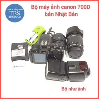 Bộ máy ảnh canon 700D gồm Len 50mm len 17 55mm đèn flash canon không mốc rễ