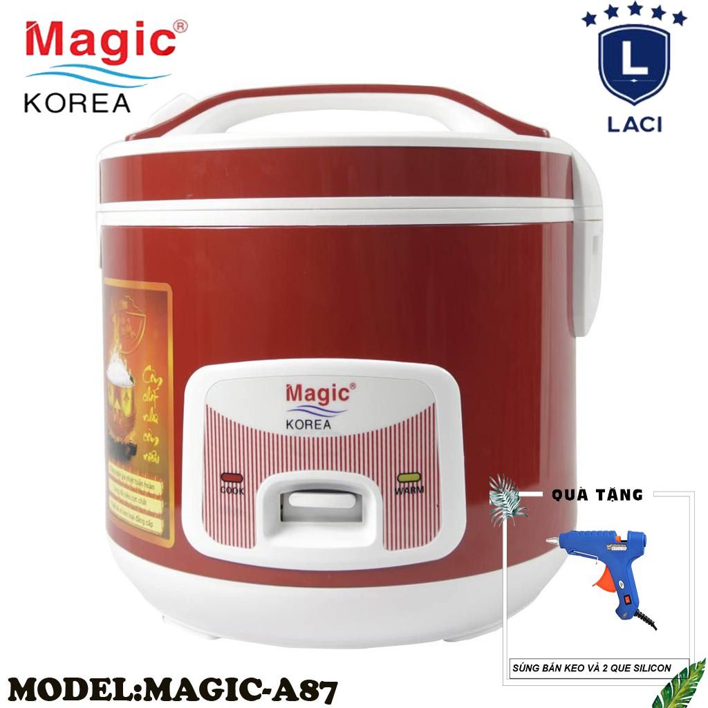 Nồi cơm điện lòng niêu Magic Korea A87 | Dung Tích 2L | Công Suất 700W | Tặng Máy Bắn Keo