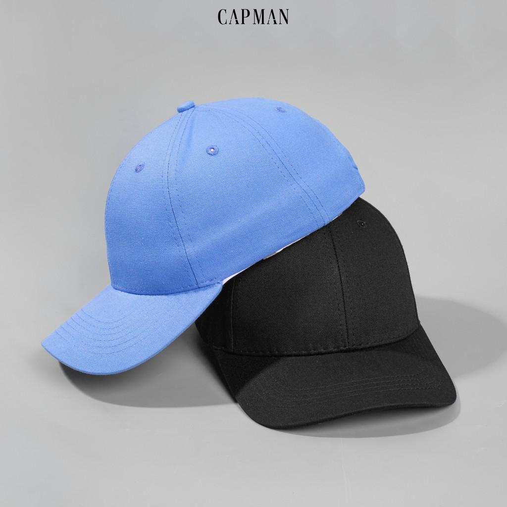 Mũ lưỡi trai CAPMAN chính hãng full box, nón kết trơn basic ullzang vải kaki CM99 nhiều màu