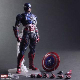 [Xả hàng tăng doanh số, hàng có sẵn, siêu hiếm] Mô hình đồ chơi cao cấp Play Arts Captain America