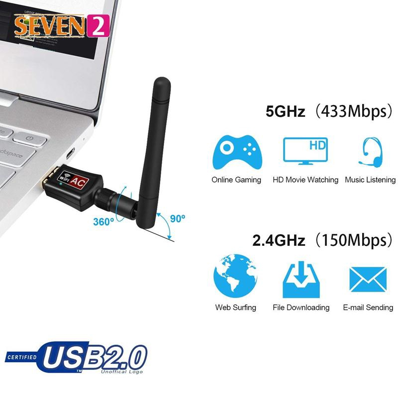 Network Card Receiver WiFi Networking 2.4GHz/5.0GHz