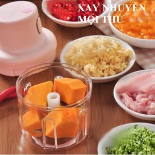 Máy xay thịt cầm tay mini sạc điện 250ml – máy xay tỏi ớt, củ quả đa năng, có cổng sạc usb - hình 2