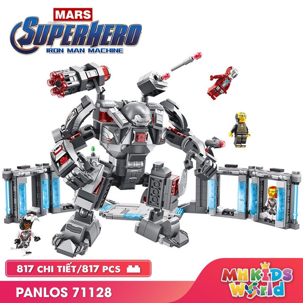 Bộ xếp hình Panlos 71128 mô hình Iron Man Machine Avenger ghép hình giúp trẻ phát triển trí tuệ