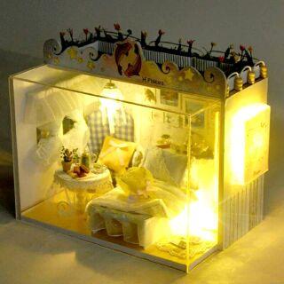 Mô hình nhà gỗ búp bê dollhouse DIY – TD3 Pisces