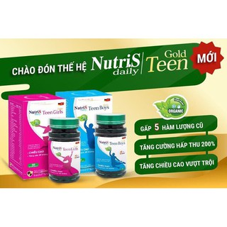 NUTRIS DAILY TEEN GIRL GOLD/ TEEN BOY GOLD 2020 Mua4 tặng 1