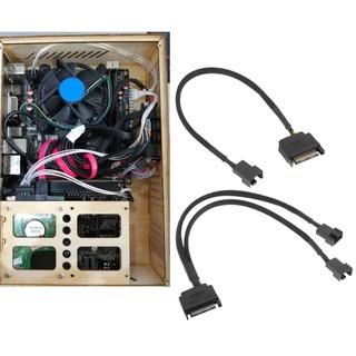 Cáp nối dài chuyển đổi SATA 15 Pin sang 3 Pin/4 Pin cho bo mạch chủ Laptop