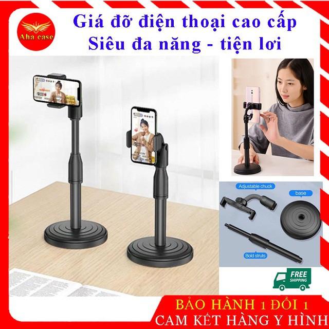 [Freeship] Giá đỡ điện thoại Microphone Stands, kẹp chống lưng 360 ,đế chân tròn để bàn, gia do tiện lợi đa năng