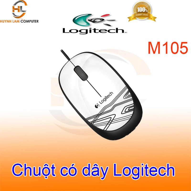 Chuột Logitech-Chuột có dây Logitech M105 DGW Phân Phối
