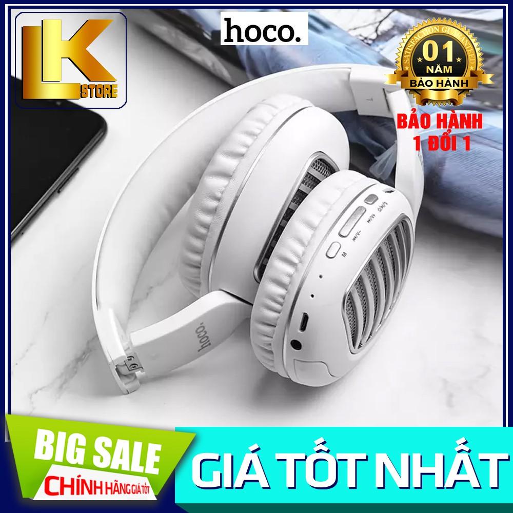 🌟CHÍNH HÃNG🌟Tai Nghe Bluetooth Chụp Tai Hoco W23 Có Khe Cắm Thẻ Nhớ { BẢO HÀNH ĐỔI MỚI}