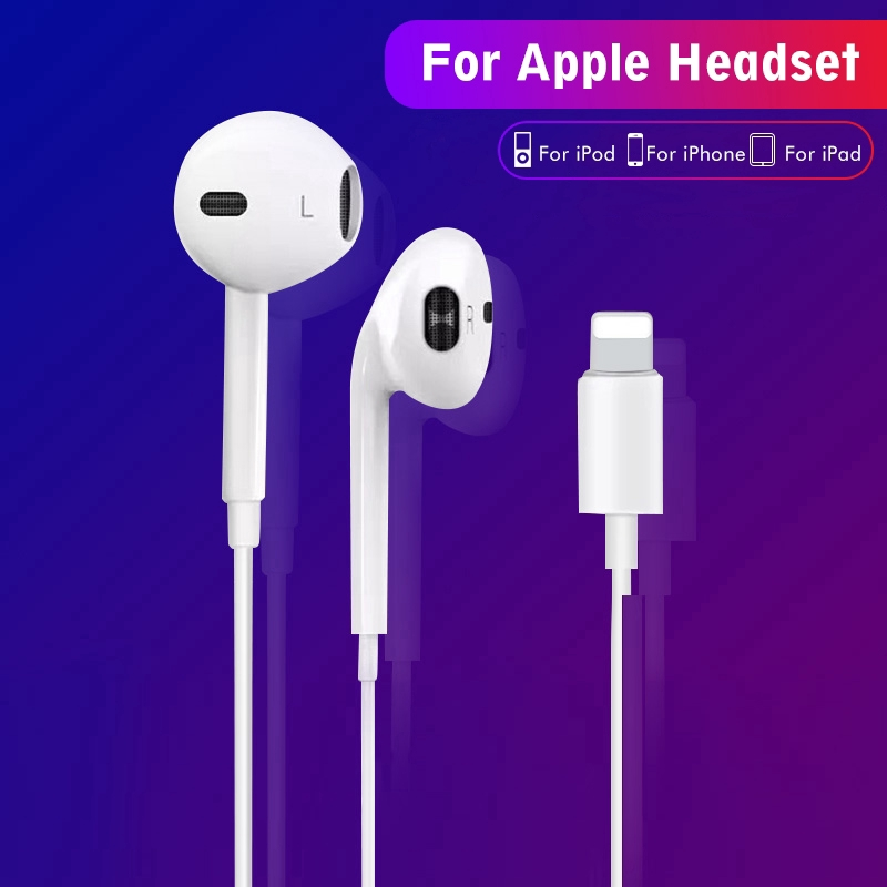 Sale 70% Tai nghe với jack lightning có tích hợp mic cho iPhone 8 7 Plus X XR XS,  Giá gốc 87,000 đ - 32C23-1