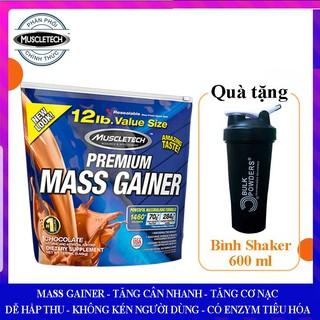 Sữa tăng cân tăng cơ nạc cao cấp Premium Mass Gainer của Muscle Tech hương Socola bịch 5.45 kg – Nhập khẩu chính hãng