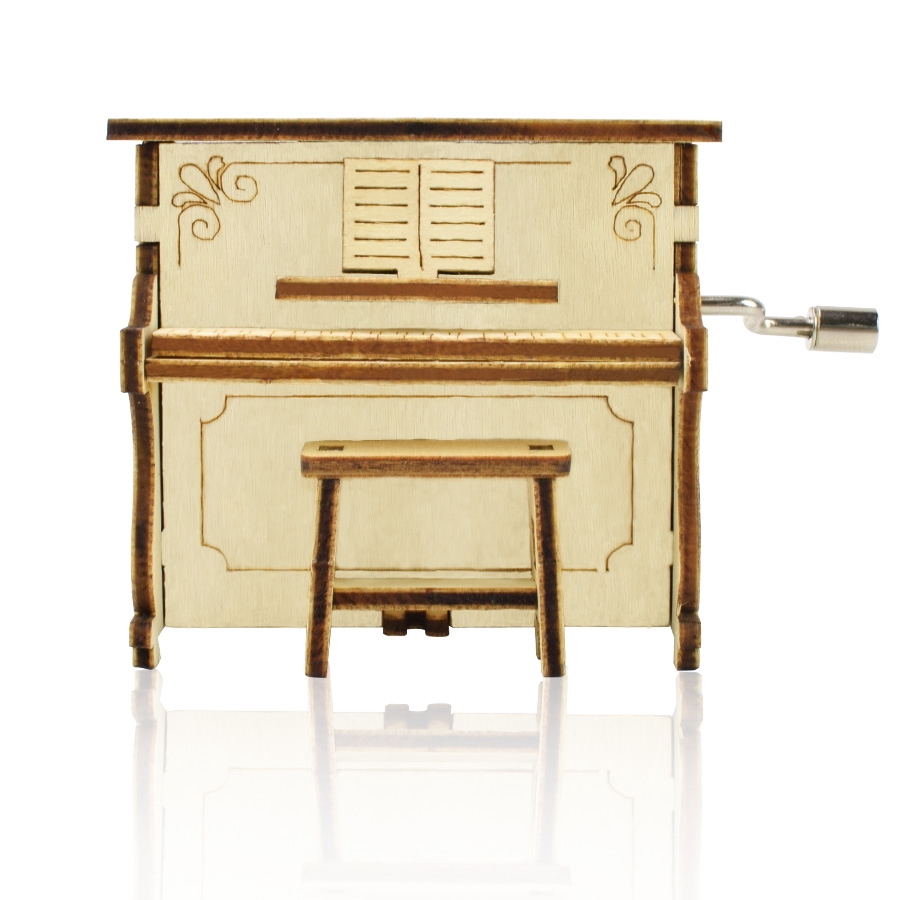 Hộp Nhạc Đồ Chơi Hình Đàn Piano Bằng Gỗ Cho Bé