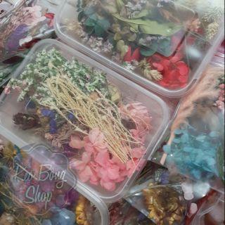 Hộp/ gói hoa khô trang trí resin