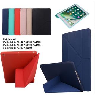 Bao da iPad mini 1, mini 2, mini 3 Smartcase khay dẻo