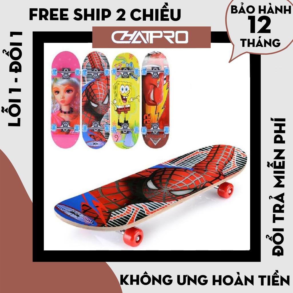 [Hàng Loại 1] Ván trượt skateboard cho trẻ em, Ván trượt patin cho bé cao cấp – Bảo hành bánh xe 12 tháng