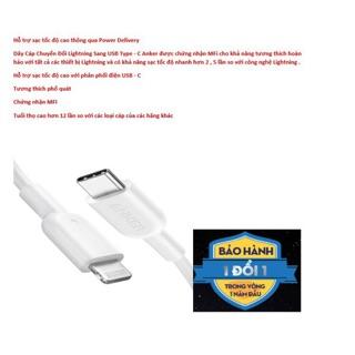 Dây Cáp Chuyển Đổi chứng nhận MFI Lightning Sang USB Type-C Anker