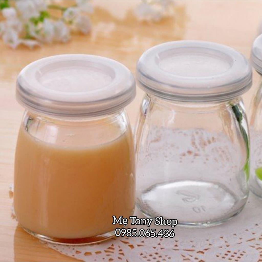 [Hàng Đẹp] Hũ Thủy Tinh 200ml Nắp Nhựa (Đựng Sữa Chua,Trữ Sữa Mẹ,Làm Bánh Pudding...)