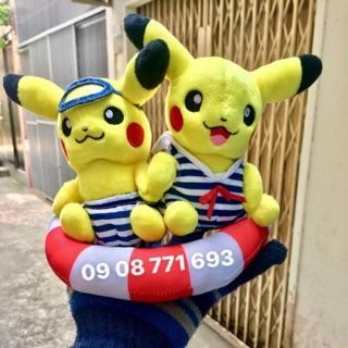 Thú bông Pikachu tắm biển cao 18cm