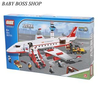 Xếp hình lego máy bayGudi 8913