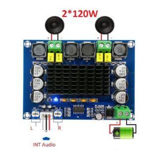 Mạch công suất loa kéo 2 kênh- 240w ClassD TPA3116D2 2x120W