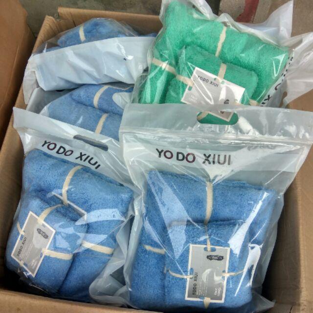 Combo 1 set khăn cừu, 5 bọ, 2 dây phơi, 1 khăn tre, 5 thảm kitty
