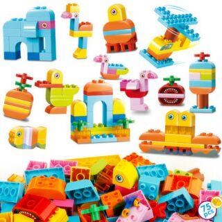 smo.neo-BỘ LEGO LẮP RÁP SÁNG TẠO (LOẠI LỚN 75 CHI TIẾT) tương thích duplo