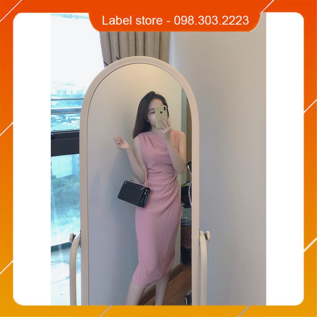 🌸Đầm công sở, váy hồng pastel nhún eo cao cấp hàng thiết kế vải siêu mát
