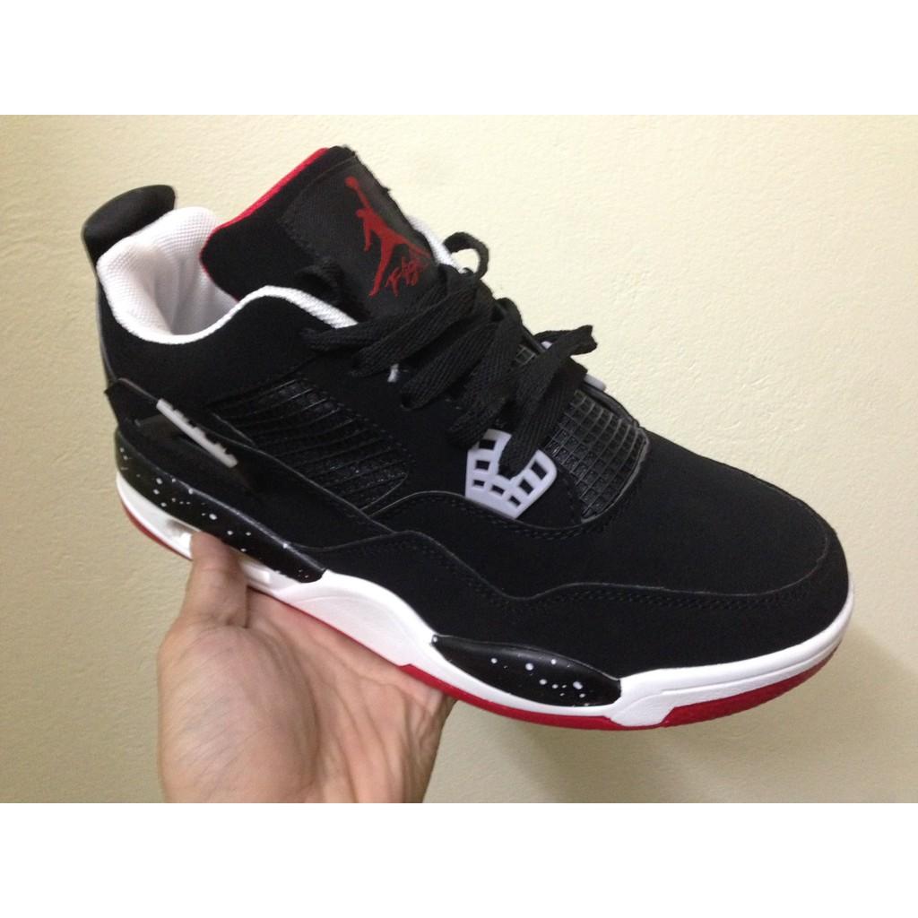 [FREE SHIP] Giày Nike Air Jordan 4 Retro màu đen đế đỏ