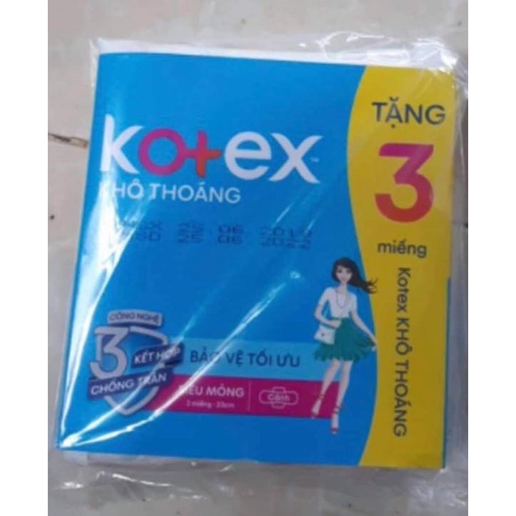 Băng vệ sinh Kotex Style Khô Thoáng - Maxi Không Cánh (3 miếng 23cm)
