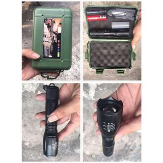 Đèn pin Police Zoom pin sạc có điều chỉnh nhiều chế độ siêu sáng