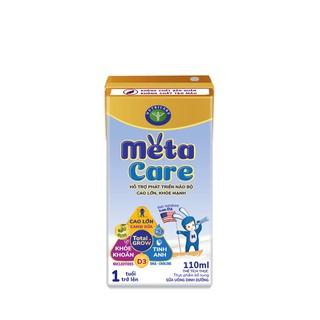 Thùng sữa nước pha sẵn Nutricare Metacare - phát triển não bộ cao lớn khoẻ mạnh (110ml x 48 hộp)