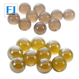 20 Pcs Marbles 16mm Glass Marbles Knicker Glass Balls Decoration Toy Dark Brown & Water Red