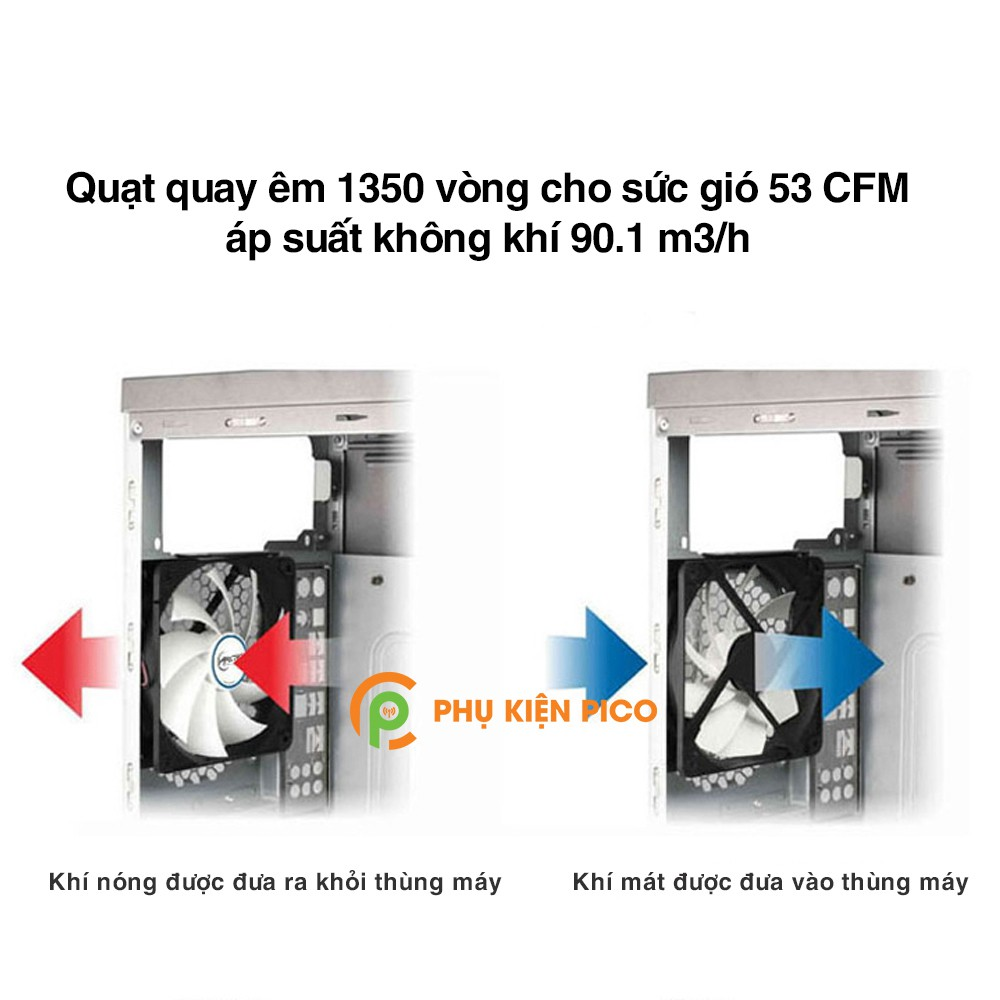 Quạt tản nhiệt case máy tính Arctic F12 PWM sức gió lớn - Quạt Fan Case 12cm