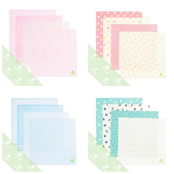 [Lullaby] Set 4 khăn xô cao cấp cho bé Lullaby (27x27cm)
